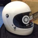 山城(ヤマシロ)レトロフルフェイス'70 ホワイトカラーヘルメット Lサイズ入荷しました!メーカー欠品中。弊社10点限りです。
