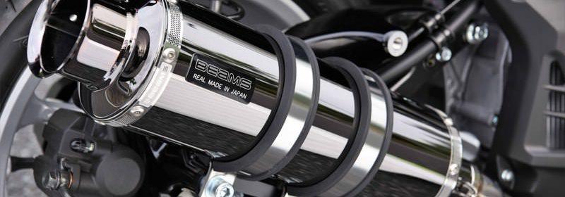 SS300 SMB(スーパーメタルブラック) SP マフラー 政府認証 BMS-R(ビームス) NMAX155(エヌマックス155)2BK-SG50J