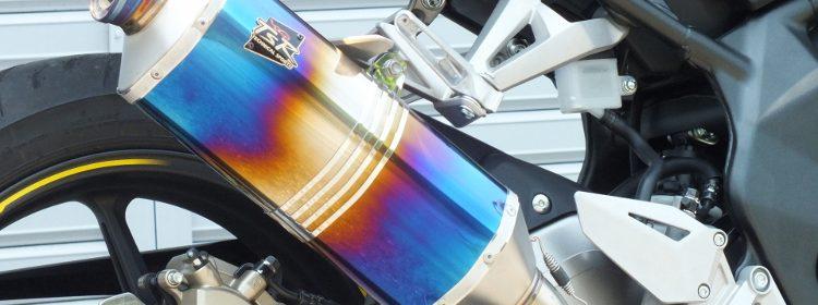 新型CBR250RR(2017)用 ヘプタゴン スリップオンマフラー 政府認証 TSR(テクニカルスポーツ)