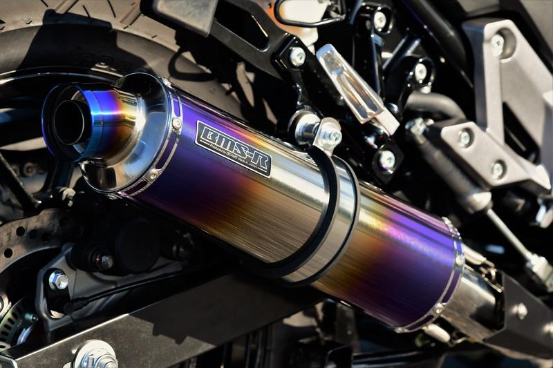 R-EVOヒートチタン スリップオンマフラー 政府認証 BMS-R(ビームス) Vストローム250(V-Strom250)